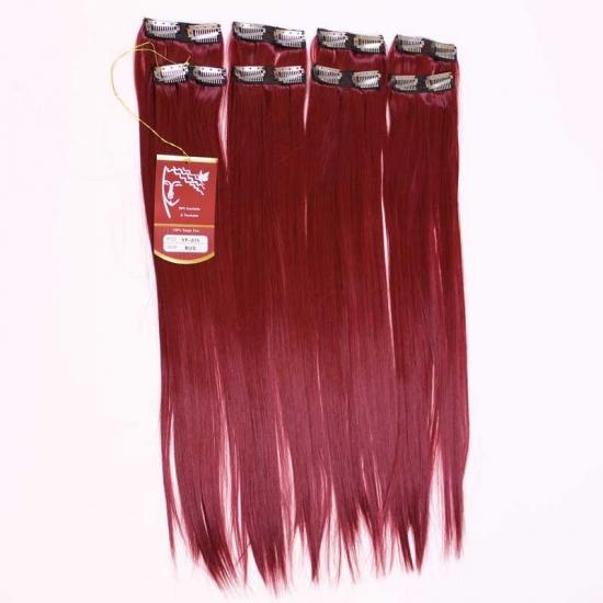Kızıl Uzun Düz Sentetik 8′li Çıt Çıt Takım-YP075-BUG