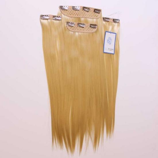 Platin Sarı Uzun Düz Sentetik 4 lü Çıt Çıt Takım-RP10055B-613