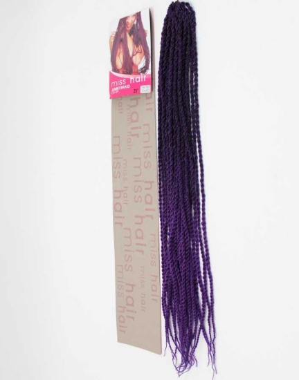THIN TWIST / İNCE BURGU MISS HAIR-100 GR.(KOYU MOR AÇIK MOR OMBRE / T2 PURPLE )