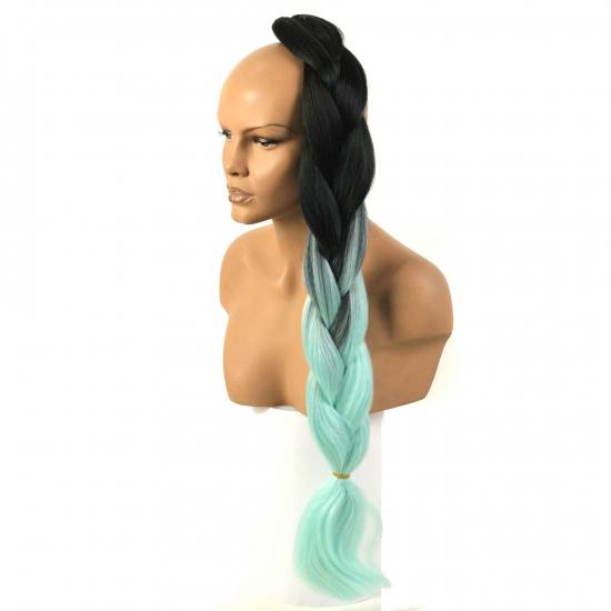 MISS HAIR BRAID - T2/LIGHT GREEN - Zenci Örgüsü Saçı, Afrika Örgüsü Malzemesi,Rasta,Topuz Saçı