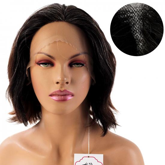 % 100 Doğal Saç Medikal - Tül Peruk / Doğal Kırçıllı / Medium / 2,5 PART / 9