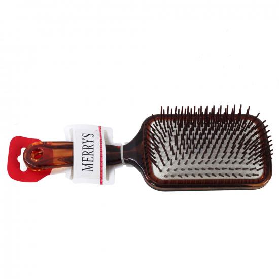 Kahverengi Plastik Gövdeli Saç Açma Fırçası İris -51038 - Özel Peruk Fırçası