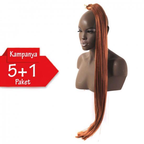 5 + 1 - MISS HAIR İ FIBER BRAID - 506 - Zenci Örgüsü Saçı, Afrika Örgüsü Malzemesi,Rasta,Topuz Saçı