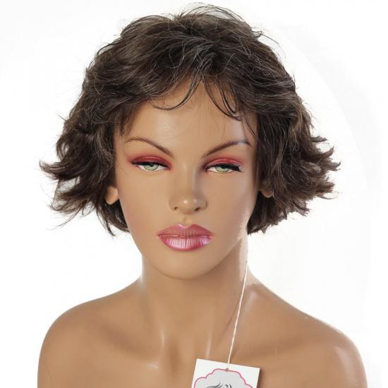 %100 Doğal Saç Peruk / Boyasız, Orjinal Kırçıllı / Unisex Peruk