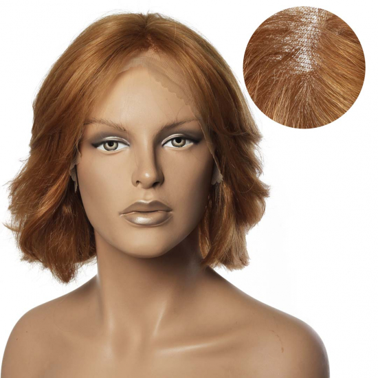 % 100 Doğal Saç Medikal - Tül Peruk / Bal Köpüğü Rengi / Medium / 2,5 PART / 60