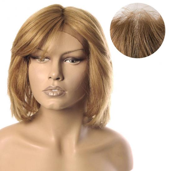 % 100 Doğal Saç Medikal - Tül Peruk - Bal Köpüğü Rengi - Medium - 2,5 PART - 7.1