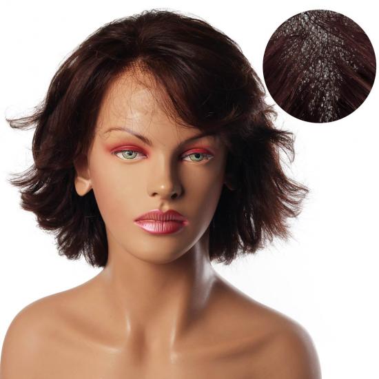 % 100 Doğal Saç Medikal - Tül Peruk - KESTANE - SMALL - MONO 13*5 - 5S-260