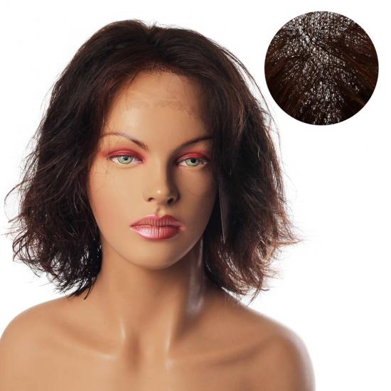 % 100 Doğal Saç Medikal - Tül Peruk - KESTANE - SMALL - MONO 13*5 - 6 - 255