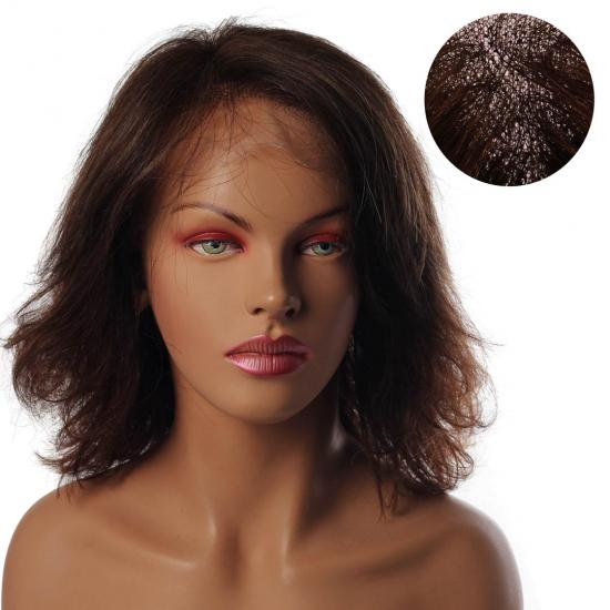 % 100 Doğal Saç Medikal - Tül Peruk / AÇIK KESTANE / SMALL / MONO 13*5 - 6 - 275