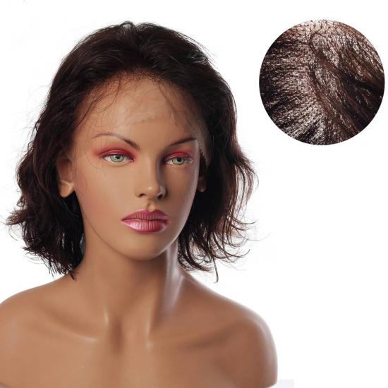 % 100 Doğal Saç Medikal - Tül Peruk / Kestane / SMALL / MONO 13*5 / 2600