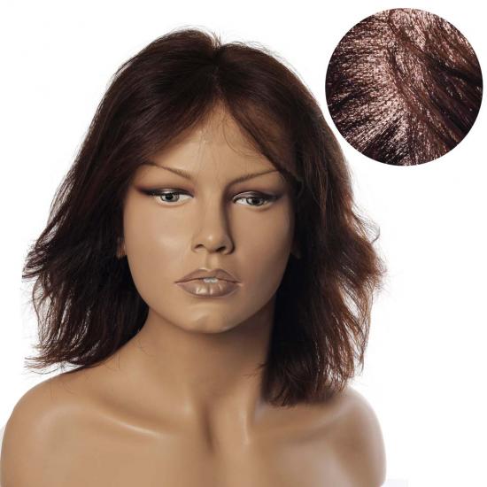 % 100 Doğal Saç Medikal - Tül Peruk / AÇIK KESTANE / SMALL / MONO 13*5 - 265