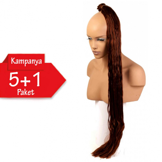 5 + 1 - MISS HAIR K FIBER BRAID - 130 - Zenci Örgüsü Saçı, Afrika Örgüsü Malzemesi,Rasta,Topuz Saçı