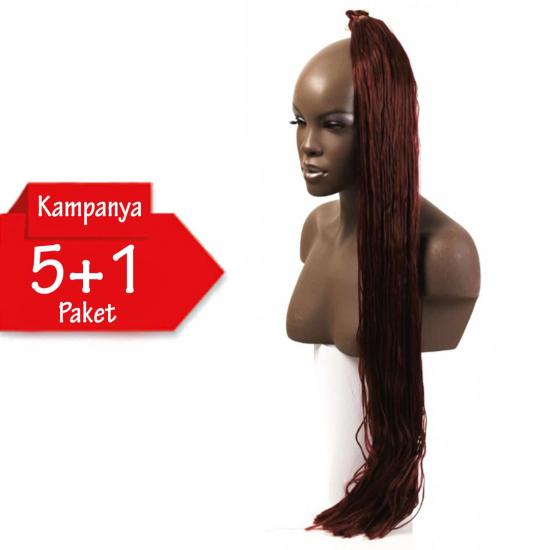 5 + 1 - MISS HAIR K FIBER BRAID - 34 - Zenci Örgüsü Saçı, Afrika Örgüsü Malzemesi,Rasta,Topuz Saçı