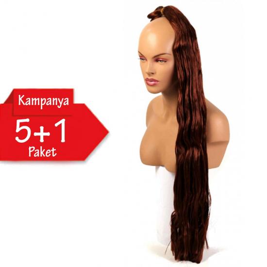 5 + 1 - MISS HAIR K FIBER BRAID - 35A - Zenci Örgüsü Saçı, Afrika Örgüsü Malzemesi,Rasta,Topuz Saçı