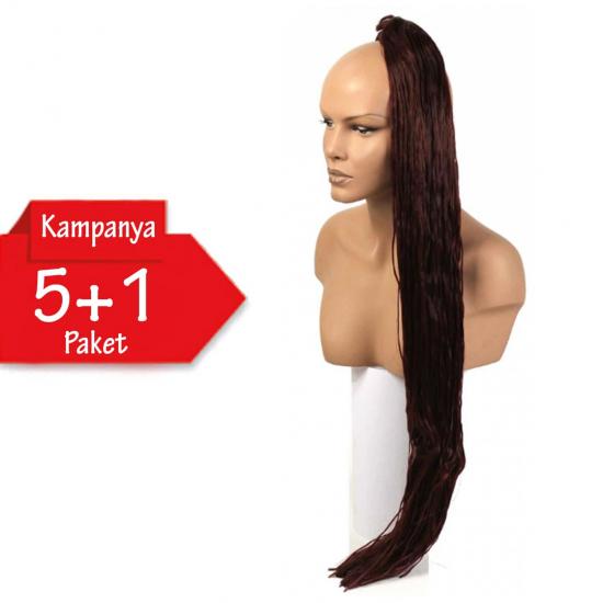 5 + 1 - MISS HAIR K FIBER BRAID - 35K - Zenci Örgüsü Saçı, Afrika Örgüsü Malzemesi,Rasta,Topuz Saçı