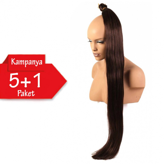 5 + 1 - MISS HAIR K FIBER BRAID - 8 - Zenci Örgüsü Saçı, Afrika Örgüsü Malzemesi,Rasta,Topuz Saçı
