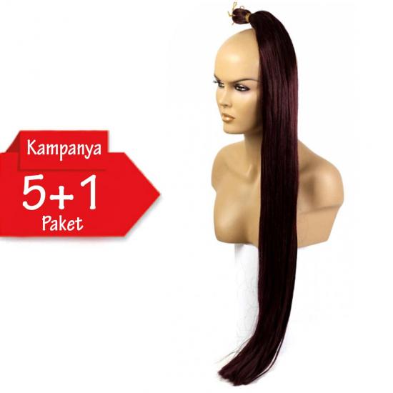5 + 1 - MISS HAIR K FIBER BRAID - 99j - Zenci Örgüsü Saçı, Afrika Örgüsü Malzemesi,Rasta,Topuz Saçı