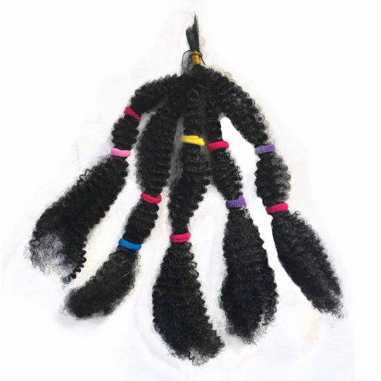 Siyah Afro Kaynak Saç / 26 Gram / 37 Cm / Kıvırcık Saç