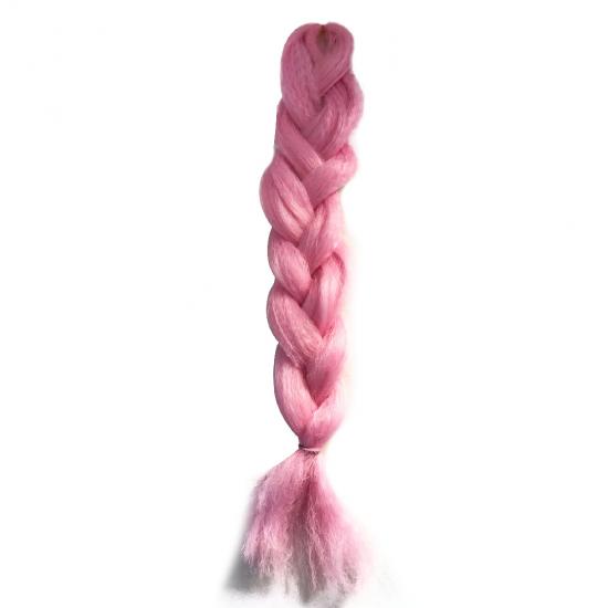 NUM - MISS HAIR BRAID - PEMBE - Zenci Örgüsü Saçı, Afrika Örgüsü Malzemesi,Rasta,Topuz Saçı